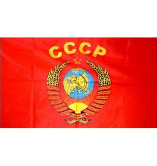 """Полотно Флага  """"CCCP с гербом""""(145 см на 90 см ) капрон"""