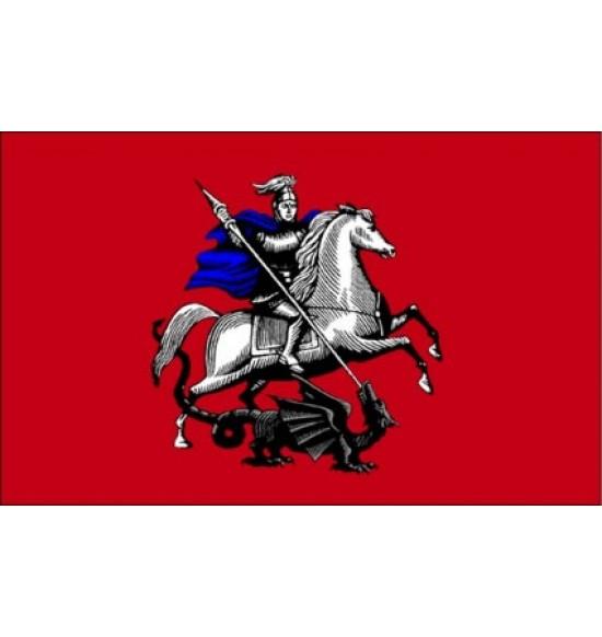 Полотно флага Москвы  (145см на 90 см ) атлас