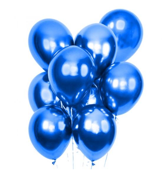 """Воздушные шары 9 мая, Воздушный шар латексный 12"""", стандарт (ПАСТЕЛЬ), 50 шт/упак. Синий"""